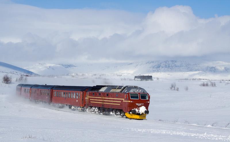 Treinen door Noorwegen